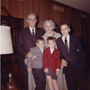 My parents, Wilmer and Eugenia Hunt; my young nephews and me (right) at our home in Houston in 1962