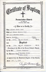 Judge 1903 Baptism Certificate 3