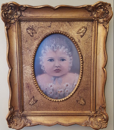 "Elizabeth ""Bessie"" Clark Helm as an infant ca. 1884-85"